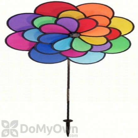 In The Breeze 24 Petal Flower Triple Wheel Spinner Ground Decor (ITB2830)