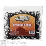 Tough - 1 Equine Braiding Bands - White