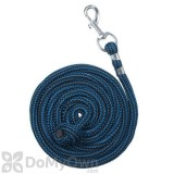 Tough - 1 8 ft. Woven Poly Cord Lead Rope - Turquoise/Black