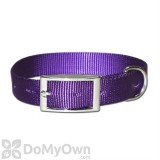 Leather Brothers Regular One - Ply Nylon Collar 5/8 in. x 12 in. - Purple