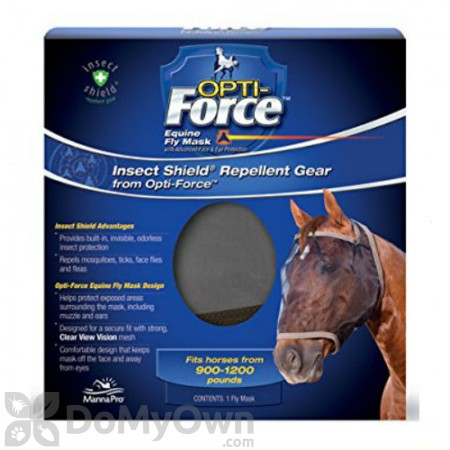 Manna Pro Insect Shield Opti - Force Fly Mask