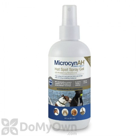 MicrocynAH Hot Spot Spray Gel with Dimethicone