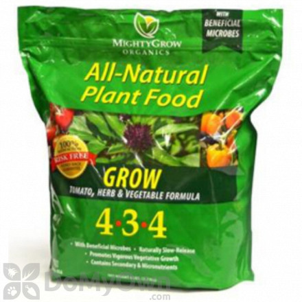MightyGrow All - Natural Plant Food Grow Tomato Herb and Vegetable Formula 4 - 3 - 4