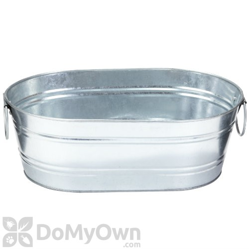Little giant galvanized oval tub for Oval garden tub