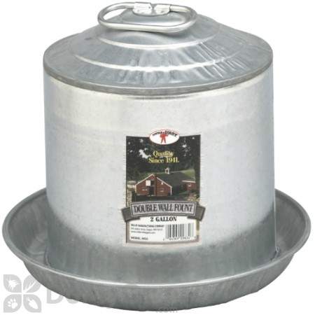 Little Giant Double Wall Metal Poultry Fount