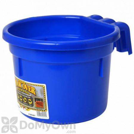 Little Giant Hook Over Feed Pail 8 qt. Blue