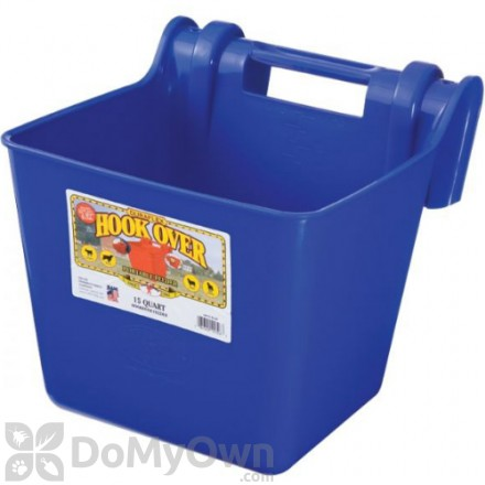 Little Giant Plastic Hook Over Feeder 15 qt. Blue