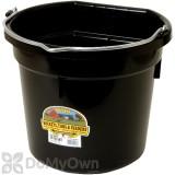Little Giant Duraflex Flat-Back Plastic Bucket 20 qt. Black