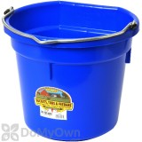 Little Giant Duraflex Flat-Back Plastic Bucket 20 qt. Blue