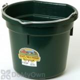 Little Giant Duraflex Flat-Back Plastic Bucket 20 qt. Green