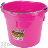 Little Giant Duraflex Flat-Back Plastic Bucket 20 qt. Hot Pink