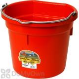 Little Giant Duraflex Flat-Back Plastic Bucket 20 qt. Red