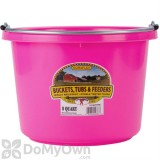 Little Giant Duraflex Round Plastic Bucket 8 qt. Hot Pink