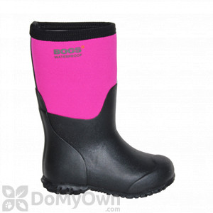 Bogs Kids Savannah Boots - Black / Pink