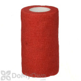 Neogen SyrFlex Cohesive Flexible Bandage 4 in. Red