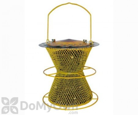 No / No Feeder Sunflower Designed Double Bird Feeder with Perch 10 in. (387CS)