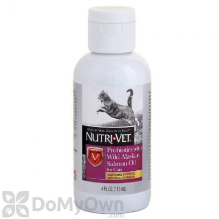 Nutri - Vet Probiotics with Wild Alaskan Salmon Oil for Cats
