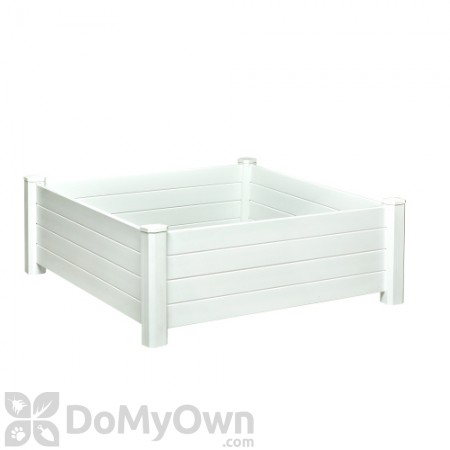 Nuvue Raised Garden Bed Modular White PVC 4\' x 4\'