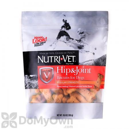 Nutri-Vet Hip & Joint Regular Strength Peanut Butter Biscuits - Small & Medium Dogs