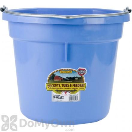 Little Giant Duraflex Flat-Back Plastic Bucket 20 Qt.