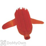 Plastic Curry Comb with Strap and Hose Attachment - Red