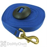 Equi - Sky Lunge Line with Rubber Stopper - Blue