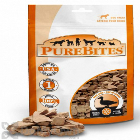 PureBites Freeze Dried Duck Liver Dog Treats