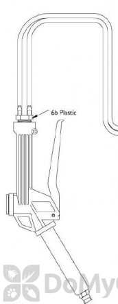 Plastic Double Hose Barb with Clamps for Foamer Simpson (part #6b) (FSPT06b)