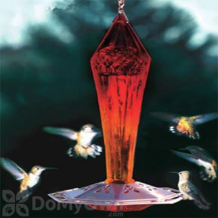 Schrodt Ruby Faceted Glass Hummingbird Feeder (PBBSFGHFR)