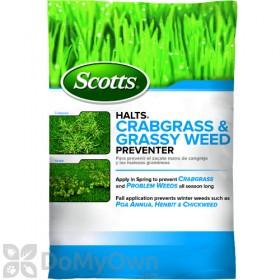 Scotts Halts Crabgrass and Grassy Weed Preventer