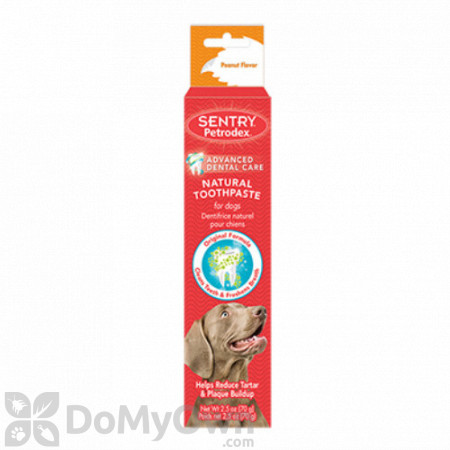 Sentry Petrodex Natural Toothpaste for Dogs Peanut Flavor