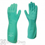 Showa Flock - Lined Nitrile Disposable Gloves - Size 8