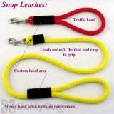 Soft Lines Dog Snap Leash - 3 / 8\