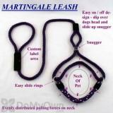 Soft Lines Martingale Dog Leash - 6\' x 3 / 8\