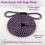 Soft Lines Floating Dog Swim Snap Leashes - 3 / 8\