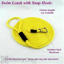 "Soft Lines Floating Dog Swim Snap Leashes - 1 / 2"" Diameter x 20\' Yellow"