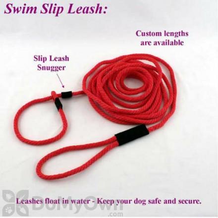 "Soft Lines Floating Dog Swim Slip Leashes - 1 / 2"" Diameter x 30 Foot"