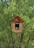 Songbird Essentials Large Hanging Grass Twine Bird House with Roof (SE10355)