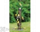 Songbird Essentials Copper Spiral Sunflower Seed Bird Feeder 17 in. (SEBQSBF3C)