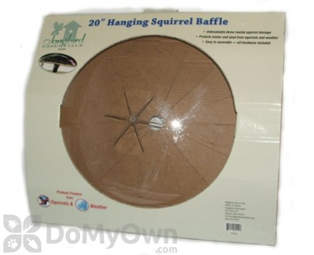 Songbird Essentials Hanging Squirrel Baffle For Bird Feeders 20 in. (SESQ84)