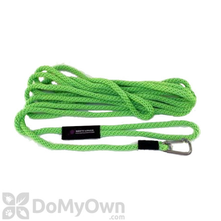 """Soft Lines Floating Dog Swim Snap Leashes - 1 / 2"""" Diameter x 40' Lime Green"""