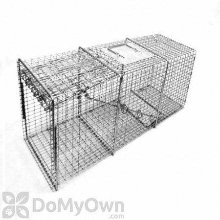 Tomahawk Flush Mount, Heavy Duty Pro Series Live Cage Trap Model 1010SS-F (Raccoon & Woodchuck size)