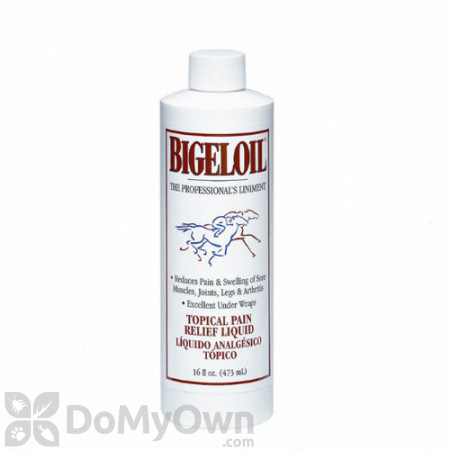 Bigeloil Liniment Topical Pain Relief Liquid for Horses