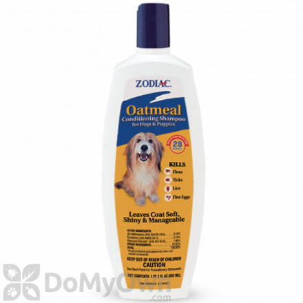 Zodiac Oatmeal Conditioning Shampoo for Dogs and Puppies