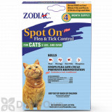 Zodiac Spot On Plus Flea and Tick Control for Cats (Over 5 lbs.) - 4 Pack