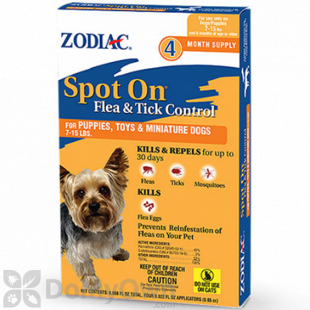 Zodiac Spot On Flea and Tick Control for Dogs - 4 Pack