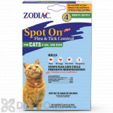 Zodiac Spot On Plus Flea Control for Cats and Kittens