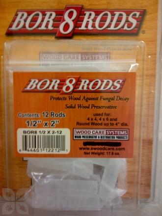 "Bor8 Rods 1/2"" x 2"""