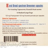Oral Broad Spectrum Dewormer for Medium and Large Dogs 12 Counts