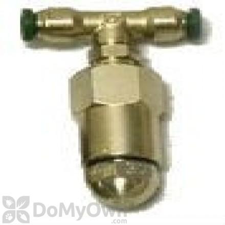 Pyranha Spray Nozzle Assembly 1/4 inch Nickel Plated Nickel Silver Tip
